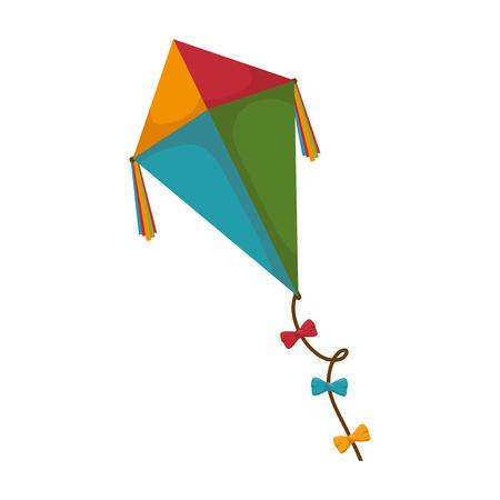 카이트 비행 장난감 아이콘 벡터 일러스트 레이 션 디자인 일러스트