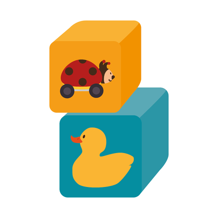 funny baby: blocks cubes toy icon vector illustration design