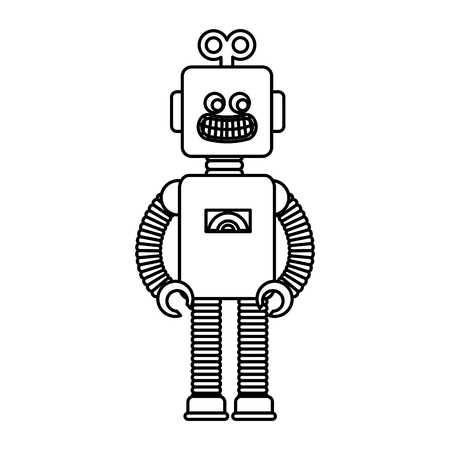 robot electric toy icon vector illustration design Illustration