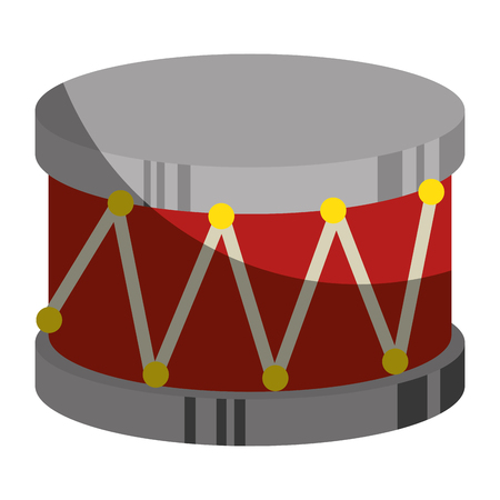 drum toy musical instrument vector illustration design 向量圖像