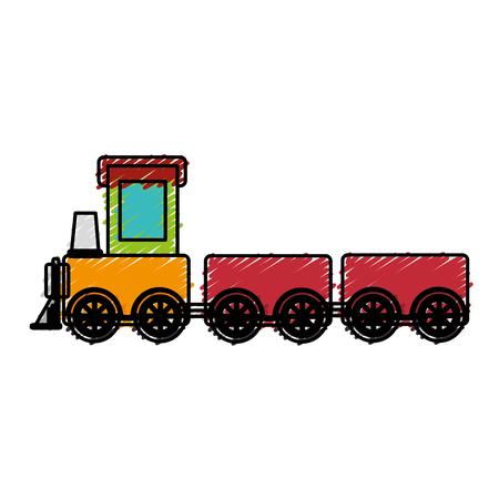 cute train toy icon vector illustration design Vector Illustration