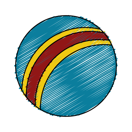 inflatable ball: balloon plastic isolated icon vector illustration design