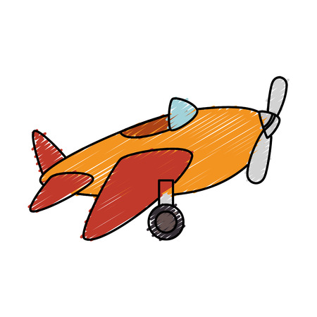 cute airplane toy icon vector illustration design