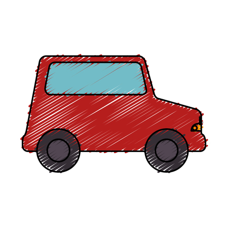 funny baby: little car toy icon vector illustration design