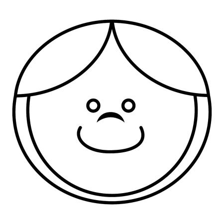 funny baby: little egg wooden toy vector illustration design