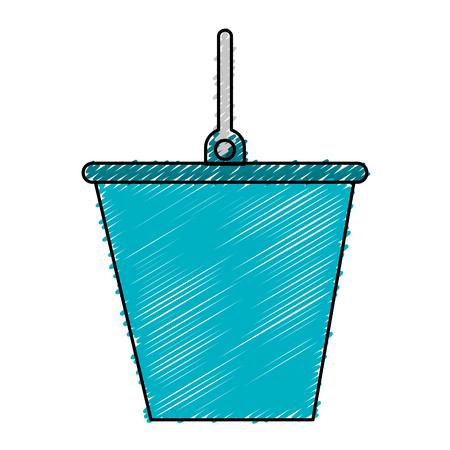 バケット分離ツール アイコン ベクトル イラスト デザイン