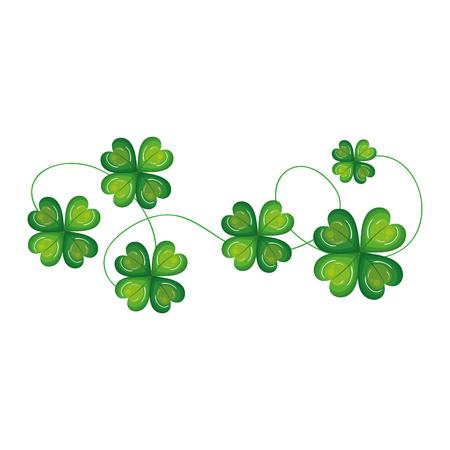 clovers leafs 격리 된 아이콘 벡터 일러스트 디자인