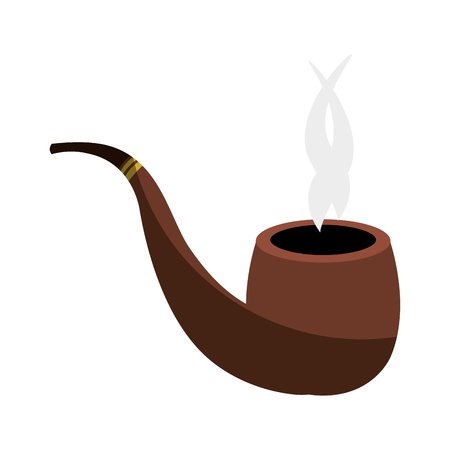 wooden pipe isolated icon vector illustration design Illustration