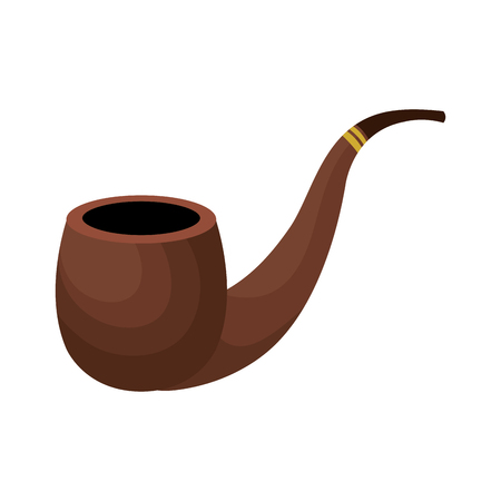 wooden pipe isolated icon vector illustration design Ilustrace