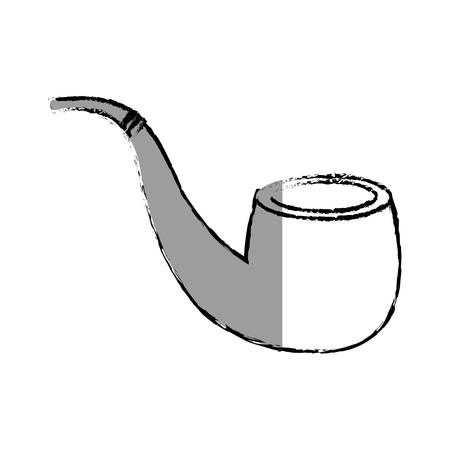 wooden pipe isolated icon vector illustration design Ilustração