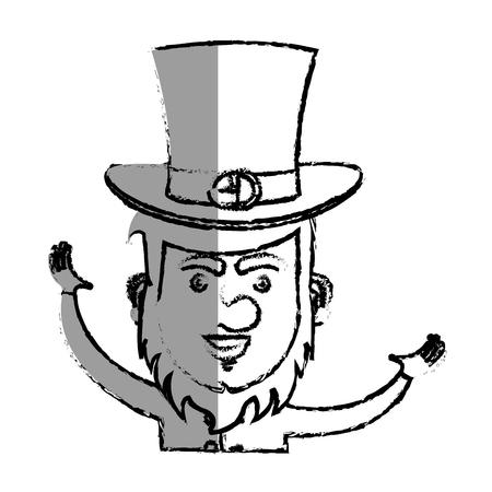 irish elf character comic vector illustration design Illustration