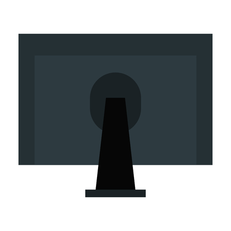 lcd: monitor computer desktop icon vector illustration design Illustration