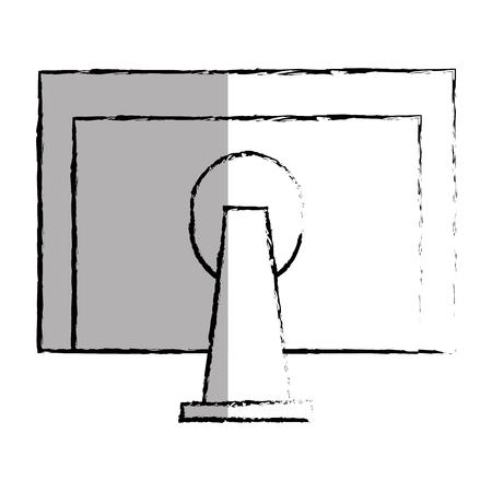 monitor computer desktop icon vector illustration design Illustration