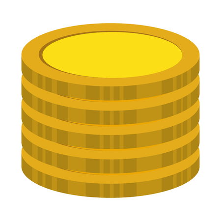 coins treasure isolated icon vector illustration design