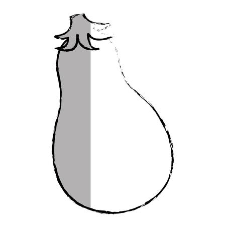 fresh eggplant vegetable icon vector illustration design Ilustração