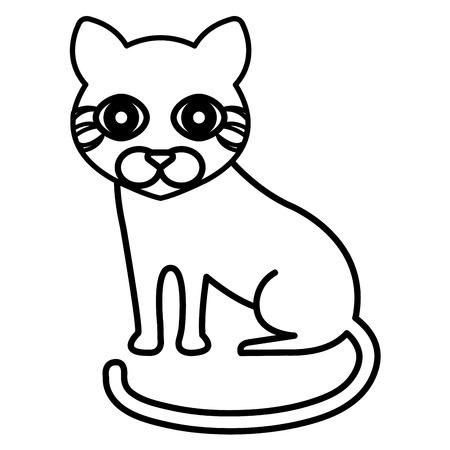 animal pussy: cute cat pet icon vector illustration design