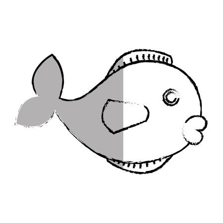 Niedlichen Fisch Haustier Icon Vektor-Illustration Design Standard-Bild - 76358605