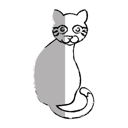 cat cute pet icon vector illustration design Illustration