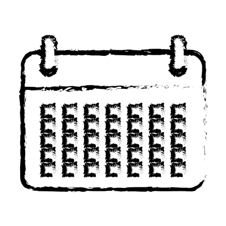 calendar icon: calendar reminder isolated icon vector illustration design
