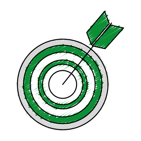 target with arrow isolated icon vector illustration design Ilustração