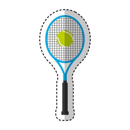 tennis racket isolated icon vector illustration design Illustration