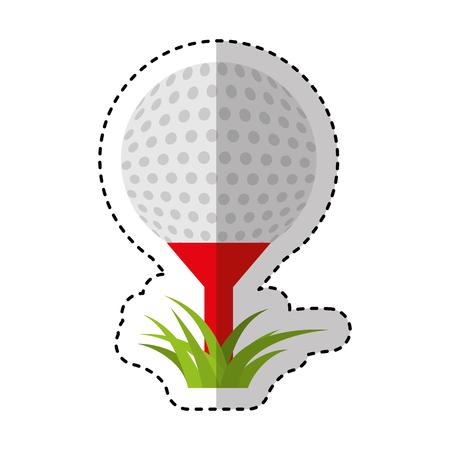 collegue: golf sport ball icon vector illustration design