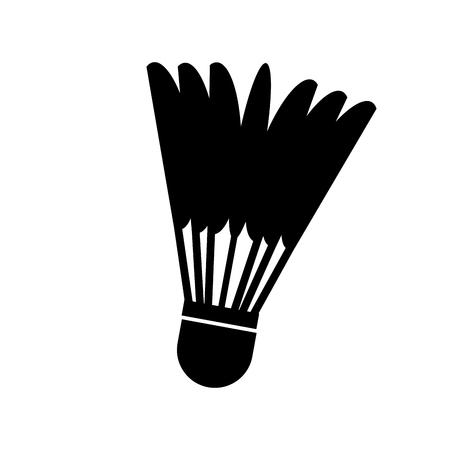 badminton ball isolated icon vector illustration design Illustration