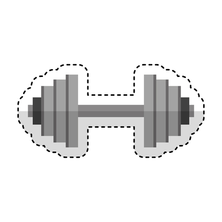 weight lifting dumbbell isolated icon vector illustration design