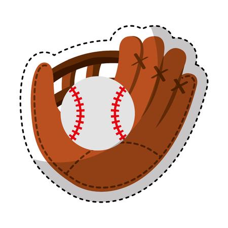 gant de baseball isolé icône vector illustration design Vecteurs