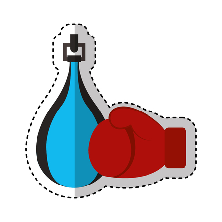 boxing punch isolated icon vector illustration design