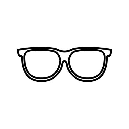 eye glass isolated icon vector illustration design
