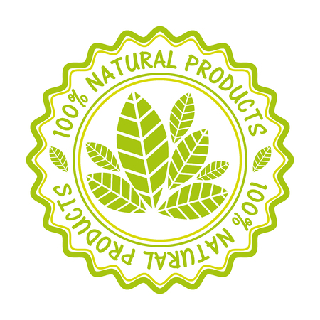 warranty: organic product guaranteed seal vector illustration design Illustration