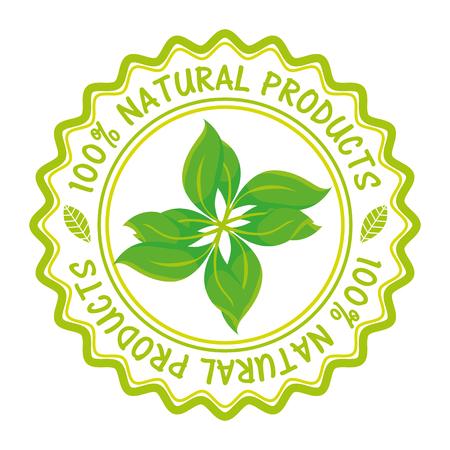 organic product guaranteed seal vector illustration design Illustration
