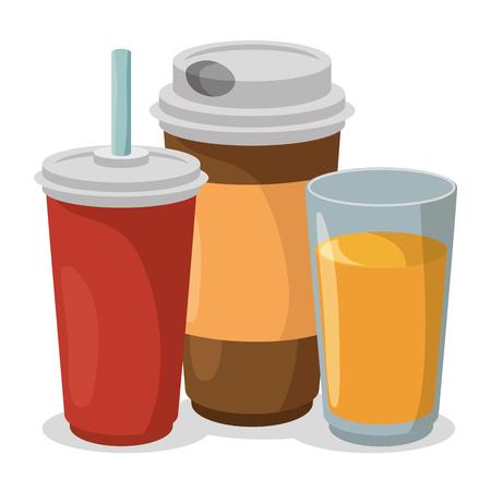 set drinks isolated icons vector illustration design Illustration