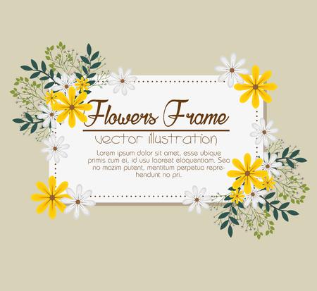 royal wedding: floral frame decorative icon vector illustration design