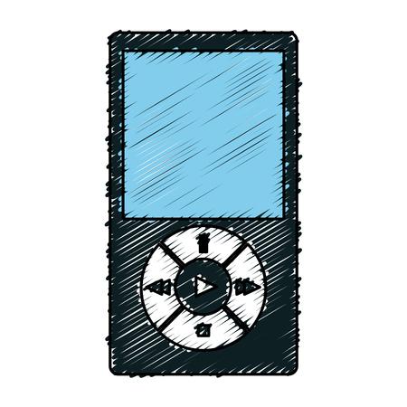 Muziekspeler mp3 icon vector illustratie ontwerp Stock Illustratie