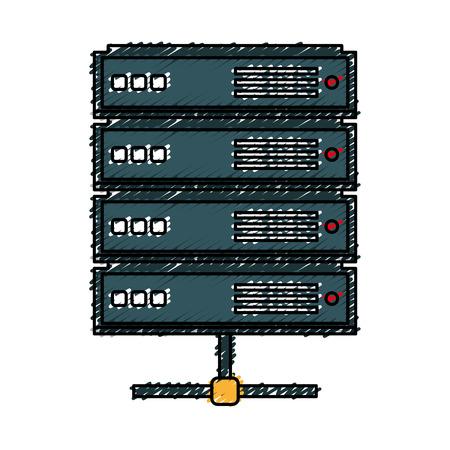 storage device: network server isolated icon vector illustration design