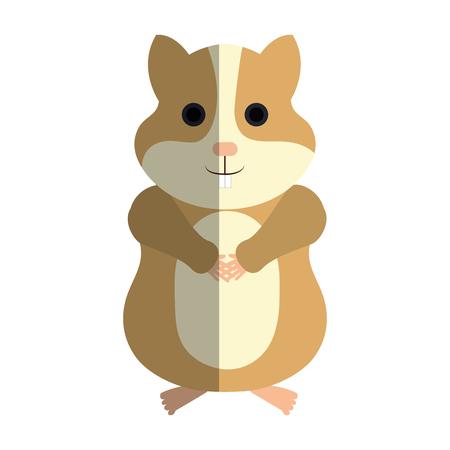 mouse: cute hamster mascot icon vector illustration design Illustration