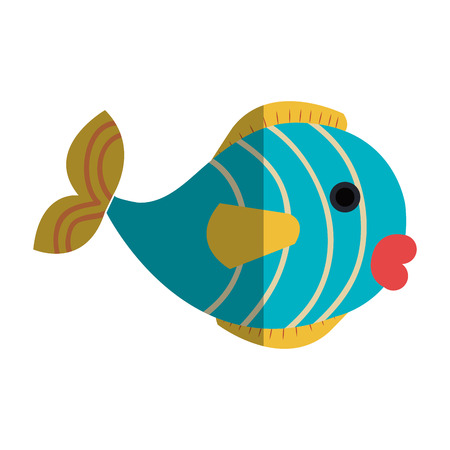 cute fish pet icon vector illustration design