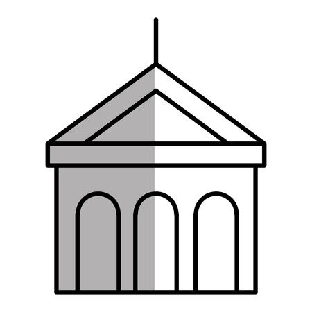 building with columns icon vector illustration design Illustration