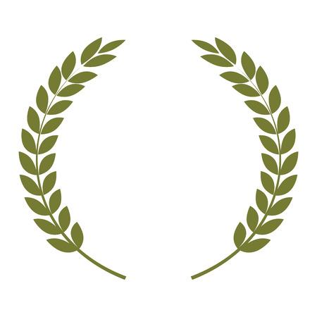 wreath leafs crown icon vector illustration design