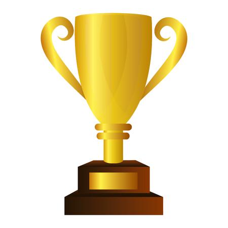 Taza del trofeo aislado icono de ilustración vectorial de diseño Foto de archivo - 76402049