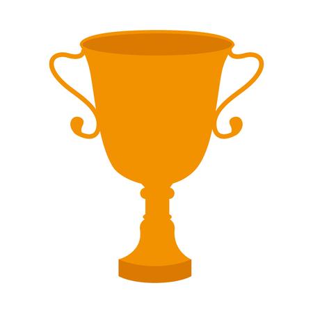 Trofee kop geïsoleerd pictogram vector illustratie ontwerp