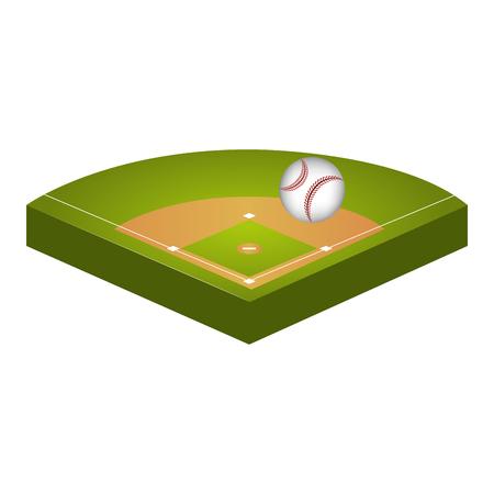 baseball diamond field icon vector illustration design Stock Vector - 76402055