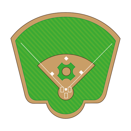 outfield: baseball diamond field icon vector illustration design Illustration