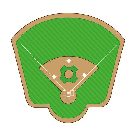 baseball diamond field icon vector illustration design Illustration