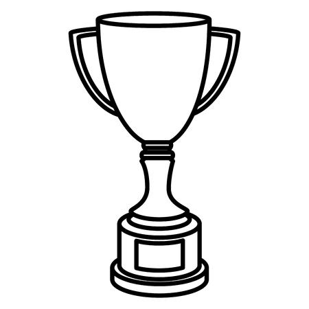 Taza del trofeo aislado icono de ilustración vectorial de diseño Foto de archivo - 76402063