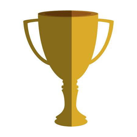 Taza del trofeo aislado icono de ilustración vectorial de diseño Foto de archivo - 76401984