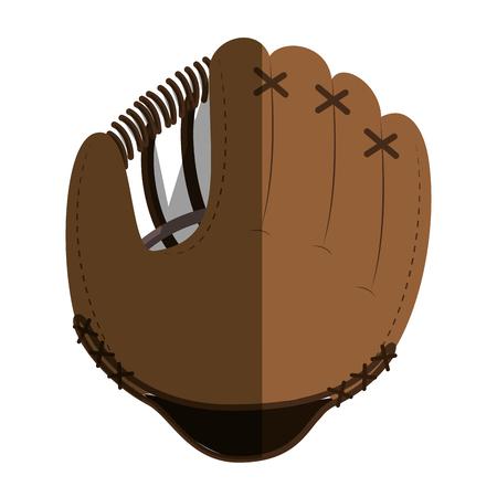 baseball glove equipment icon vector illustration design