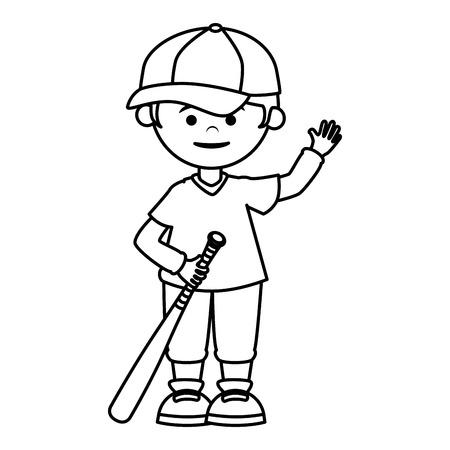 baseball player avatar character vector illustration design Stock Vector - 76401994